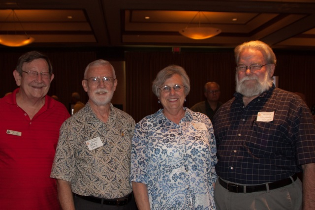 L. to R.: Bob Voges, Walt Davis, Lynn and Richard Wilson