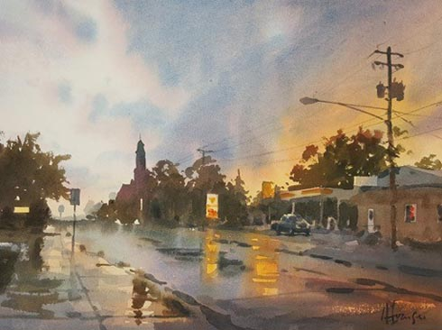 Watercolor painting by Andy Evansen