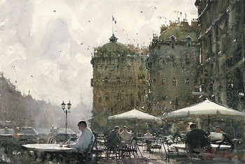 Watercolor painting by Joseph Zbukvic