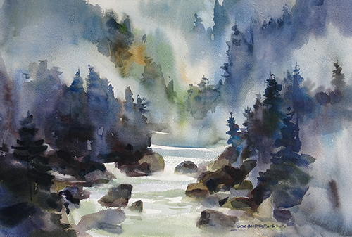 Watercolor by Don Andrews