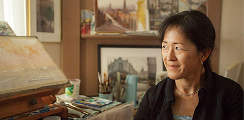 Keiko Tanabe, Juror for the 54th Southwestern Watercolor Society's Membership Exhibition